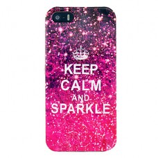 iPhone 5C siliconen keep calm print