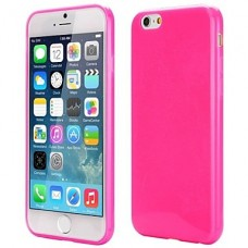 iPhone 6G siliconen cover roze