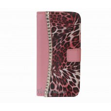 iPhone 6 Plus boekhoesje roze diamond