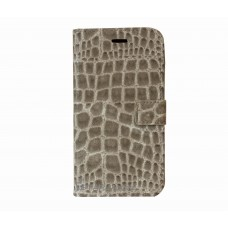 iPhone 6 Plus boekhoesje wit croco