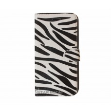 iPhone 6 Plus boekhoesje zebra wit