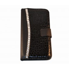 Galaxy Note 3 boekhoesje croco diamond zwart