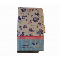 Galaxy Note 3 boekhoesje 'happy step' blauw