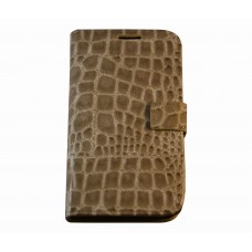 Galaxy Note 3 boekhoesje beige croco