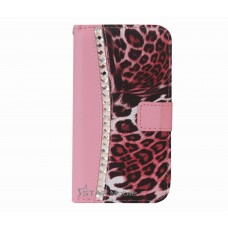 Galaxy S5 boekhoesje croco diamond roze