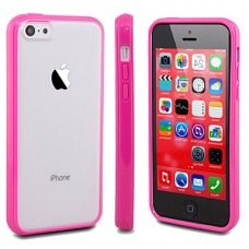iPhone 5C siliconen cover roze contour