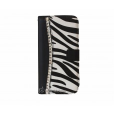 iPhone 6 Plus boekhoesje zebra diamond