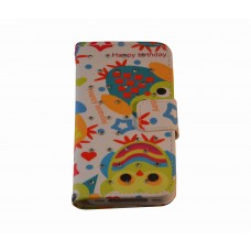 iPhone 4 / 4S boekhoesje uil Happy Birthday