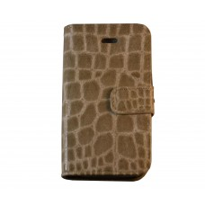 iPhone 4 / 4S boekhoesje beige croco