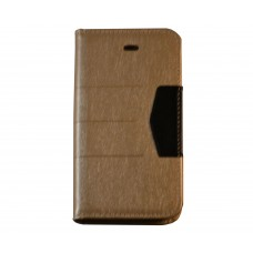 iPhone 4 / 4S boekhoesje goud glanzend