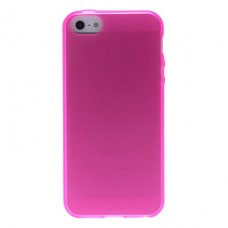 iPhone 5G/S siliconen cover roze