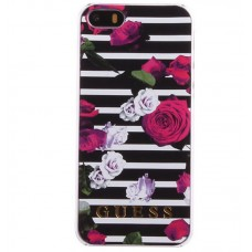 iPhone 5G/5S Cover Guess Roses Zwart