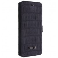 iPhone 6 Plus Boekhoesje Guess Croco Zwart